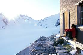 Alps Mountains Map Swiss Alps Hut System