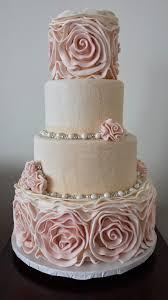 wedding cake roses tickled pink cakes large rosette winter wedding cake wedding