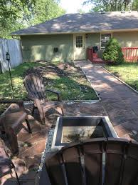 my first diy a patio and firepit for under 1000 done in a week