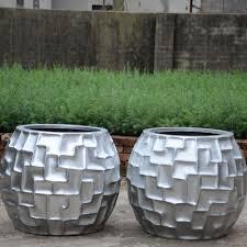 silver garden fiberglass mosaic flower pots for sale buy pots