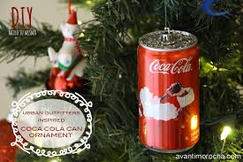 outfitters inspired diy coca cola ornament