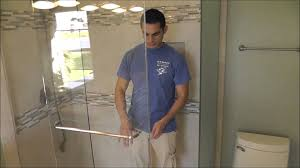 Frameless Shower Door Sliding by Crl Hydroslide Custom Frameless Sliding Shower Doors Youtube