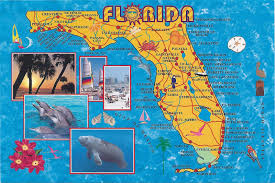 Map Of Bradenton Florida by Crafting With Style State Map Postcards