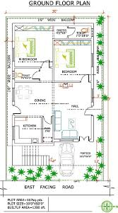 Indian House Plans For 1200 Sq Ft West Facing Independent Floor Plan 200 Sq Yards Land U2013 1500 Sq