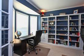 Office Bookcases With Doors Traditional Home Office With Doors Built In Bookshelf In