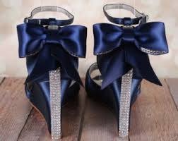 wedding shoes navy blue wedding shoes sapphire blue heels with rhinestone adornme