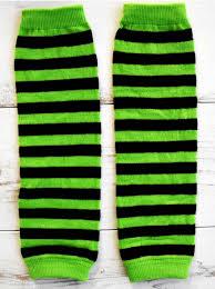 leg warmers green u0026 black stripes