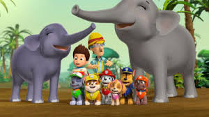 paw patrol s2 ep214 pups save an elephant family pups and the