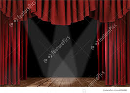 Velvet Curtains Old Fashioned Elegant Theater Stage With Velvet Curtains Picture