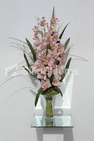 Orchid Flower Arrangements Shop Large Pink Cymbidium Orchid Floral Home Arrangement Vase
