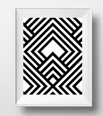 cool wall art etsy aztec print chevron black white mexican bedroom