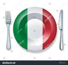 Italian Kitchen Knives Italian Food Fork Plate Knife Isolated Stock Illustration 62740951