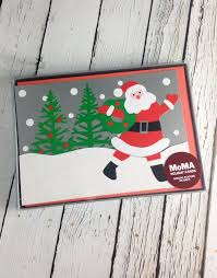 boxed christmas cards moma santa s wagon boxed cards silver in the city