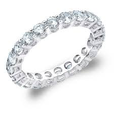 eternity wedding bands 1 31 carat t w brilliant cut eternity diamond wedding band