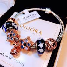pandora bracelet murano beads images Pandora bracelet murano glass beads with stars bracelet for women jpg