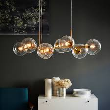 Chandelier Bulb Staggered Glass Chandelier 8 Light West Elm