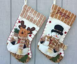 Stocking Designs by Fleece Santa Personalized Christmas Stocking