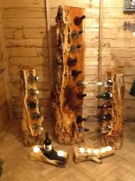 mossart unique wine racks made from yew elm and walnut