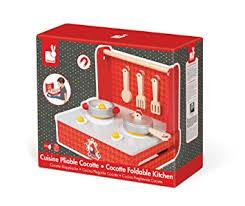 cuisine en bois jouet janod janod j06547 cuisine pliable bois the cocotte amazon fr