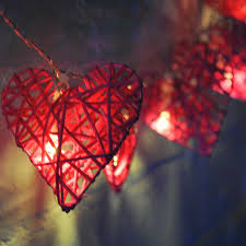 Battery Operated Fairy Lights by 20 Led 2 Metres Pink Battery Powered Rattan Heart Fairy Lights