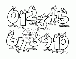 list of funny numbers coloring pages for kids counting numbers