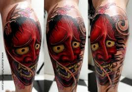 35 latest hannya leg tattoos