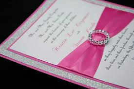 Invitation Cards Design With Ribbons Bling Wedding Invitations Bling Wedding Invitations For Possessing