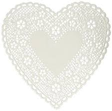 heart doily paper doilies 6 heart 18 pkg white in electronics