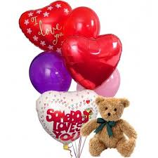 balloons with teddy bears inside valentines balloons