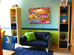 hip hop boys bedroom pre teen navy aqua orange enchanting