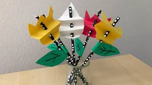 homemade paper craft flowers diy youtube