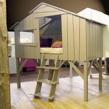 chambre cabane enfant lit cabane enfant finition laquée 90 x 190 cm 26 coloris