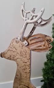 recycled wood recycled wood reindeer large repurposed christmas sculptures