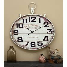 36 in x 32 in wood and metal wall clock 92225 the home depot