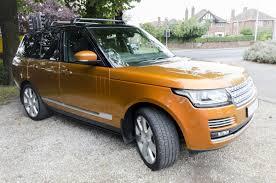 orange range rover sport range rover autobiography the laceby village motor car company