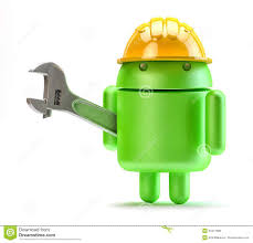 android with adjustable wrench technology concept editorial