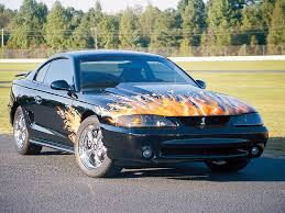 custom 1994 mustang 1994 ford svt mustang cobra flames paint automotive