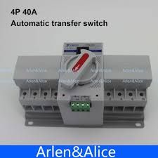 aliexpress com buy 4p 40a 380v mcb type dual power automatic
