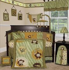 Monkey Baby Bedding For Boys Crib Bedding Light Green Creative Ideas Of Baby Cribs