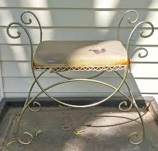vintage vanity stool makeover little vintage cottage