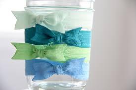 elastic hair ties elastic hair tie land and sea set of 4 foldover elastic