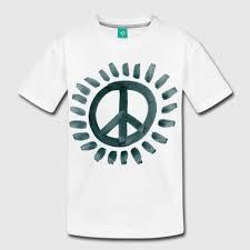 shop sun peace sign t shirts spreadshirt