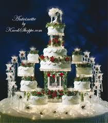 wedding cakes with fountains antoinette lighted cake stand the knock shoppe