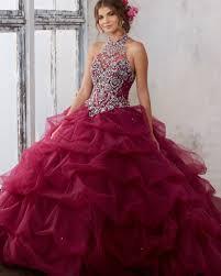 burgundy quince dresses vestidos de 15 anos debutante gown cheap gown
