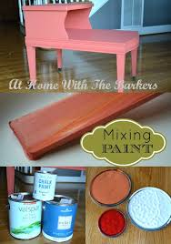 mixing your own paint color at home with the barkers