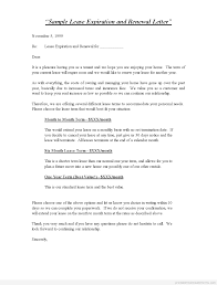 Confirmation Extension Letter Format printable sle lease expiration and renewal letter standard 2