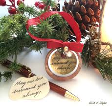 personalized christmas ornament with actual handwriting elle k
