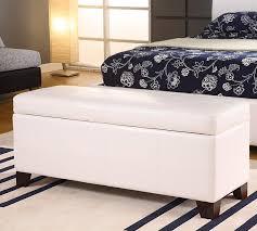 White Bench With Storage Stylish Upholstered Storage Bench Jen Joes Design