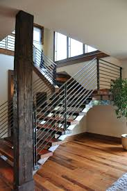 Modern Banister Rails Articles With Black Metal Stair Spindles Uk Tag Metal Stair Rails