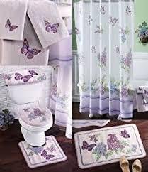 Bath Sets With Shower Curtains Amazoncom Lilac U0026 Butterflies Spring Bathroom Set Shower Curtain